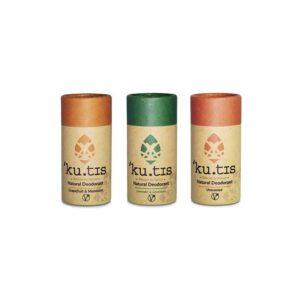 desodorizantes veganos kutis biodegradáveis e recicláveis