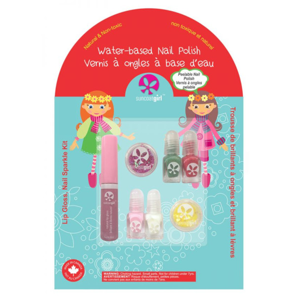 kit de 4 vernizes para criança Holiday Magic